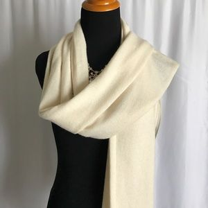 Ann Taylor NWOT 100% cashmere Ivory white scarf