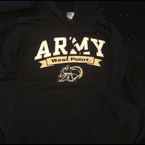 Gildan Other - Army west point hoodie sweatshirt glidan large