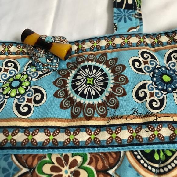 Vera Bradley Bags - Vera Bradley blue green brown Ivory tote bag