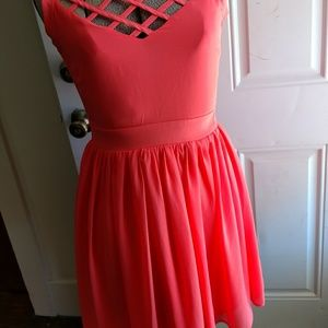 Crystal Doll Dresses & Skirts - Crystal Doll Coral Strappy Dress