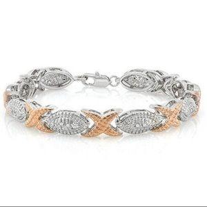 Jewelry - Two Toned Gold  & Diamond Bracelet