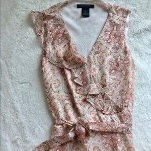 Dresses & Skirts - Silk dress, ruffle detail, so feminine.