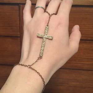 Charming Charlie Jewelry - Crystal Cross Ring/Bracelet