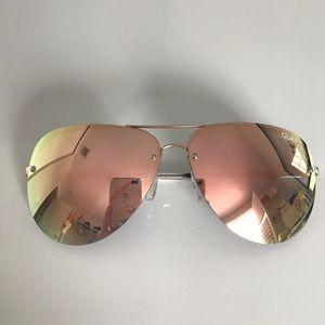 Quay Australia Accessories - 'Muse' 65mm Mirrored Aviator Sunglasses