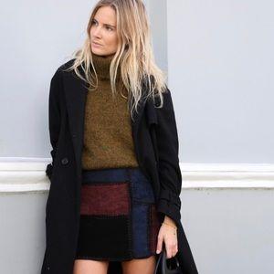 Zara Dresses & Skirts - RARE ZARA Woman Leather Patchwork Mini Skirt