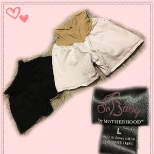 Motherhood Maternity Pants - TWO Pairs of Maternity shorts!