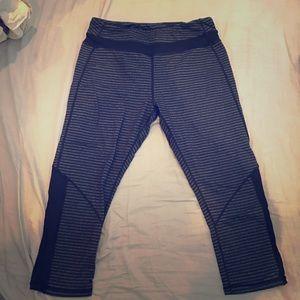 Kyodan Pants - Black striped yoga crops