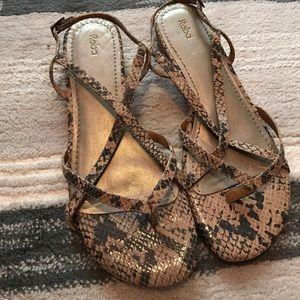 Reba Shoes - Reba snake print sandals