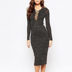 Bardot Dresses & Skirts - Bardot Metallic Knit Midi Dress ✨ Gorgeous!