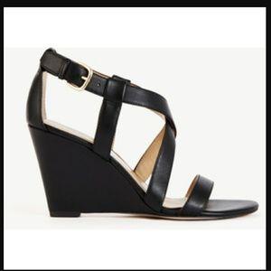 Ann Taylor Shoes - Anne Taylor Black Wedge Sandal!