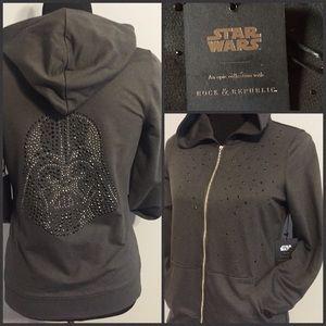 Star Wars Jackets & Blazers - NWT STAR WARS ZIP-UP HOODIE