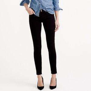  J. Crew petite black toothpick jeans 