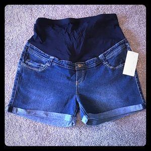 Oh! Mamma Pants - Oh! Mamma Maternity Jean Shorts