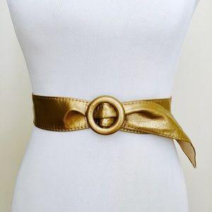 Vintage Gold Metallic Belt