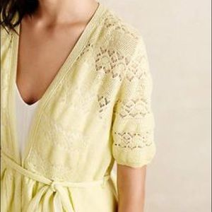 Anthropologie Sweaters - 🎉3xHP🎉Knitted and Knotted Lace Stitch Cardigan🌟