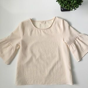 Everly Tops - Boutique EVERLY Cream Bell Sleeved Top