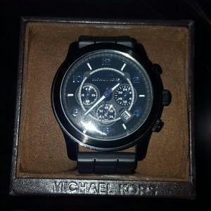 Authentic  black unisex Michael Kors watch