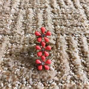 Forever 21 Jewelry - Coral Floral Ring