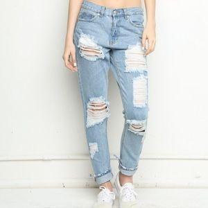 Brandy Melville Denim - Brandy Melville distressed jeans