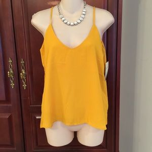 Lily White Tops - NWT size small Lily White gold tank