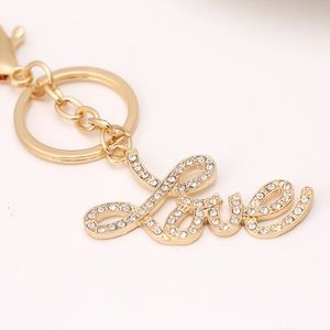 Accessories - Rhinestone Love keychain