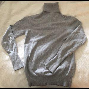 Zara Sweaters - Zara knit grey cotton turtleneck sweater