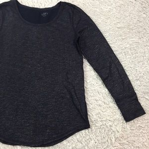 LOFT Tops - LOFT long sleeve metallic weave tee S