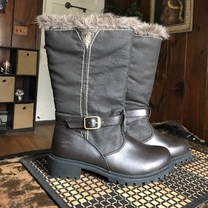 totes Shoes - Brown fur top winter snow & rain boots