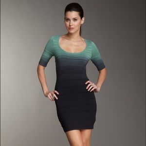 WOW couture Dresses & Skirts - WOW Couture Ombre Cutout Knit Bodycon Dress