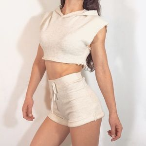 Urban Outfitters Pants - SEXY TERRY CLOTH SWEAT SUIT SET SHORTS & CROP TOP