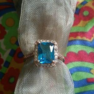 Blue Austrian Crystal Ring
