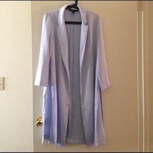 Baby blue Jacket Coat with Side split detail!