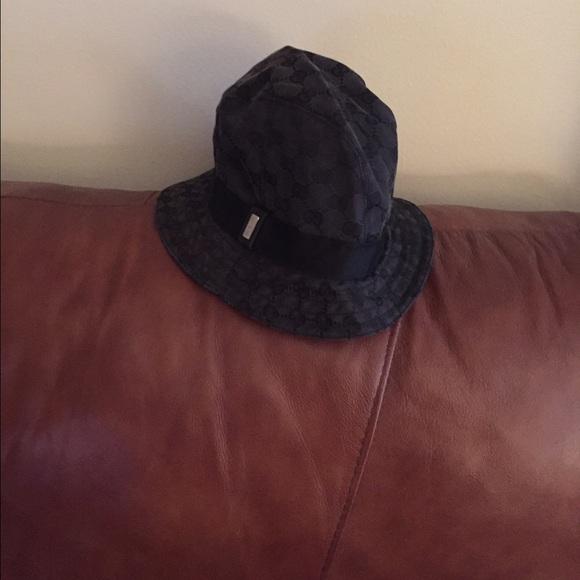 6f8cc673b0f98 Gucci Accessories - Authentic black signature Gucci hat