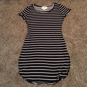 Tops - NWOT Striped dress with side slit