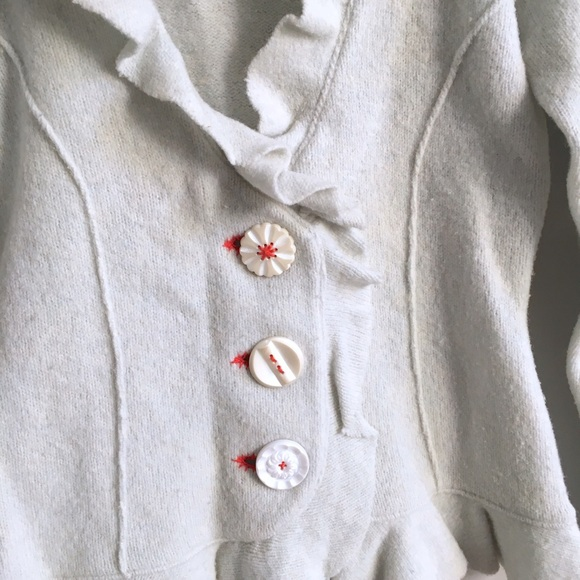 Anthropologie Sweaters - Anthropologie Ruffle Cardigan
