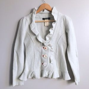 Anthropologie Sweaters - Anthropologie Ruffle Cardigan