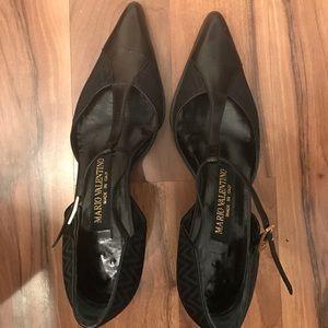 Mario Valentino Shoes - Mario Valentino Black t-strap pumps