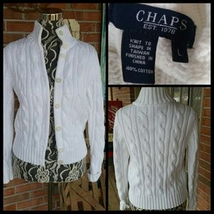 Chaps Sweaters - Chaps Sweater in Beautiful White!