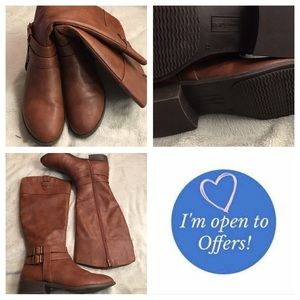 """American Eagle by Payless Shoes - Long brown """"riding boots"""" size 12"""
