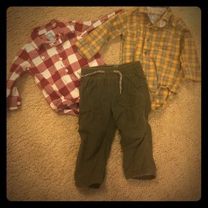 Baby gap 6-12 months collared shirts & suede pant