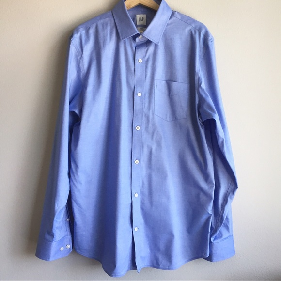 59 off gap other men 39 s gap wrinkle resistant button for Wrinkle free button down shirts