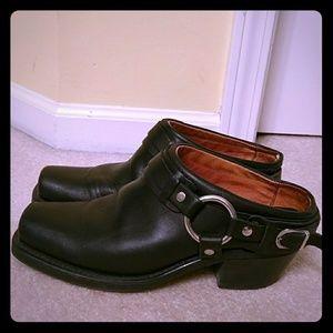 Frye Shoes - Frye Belted Harness Mule Clog