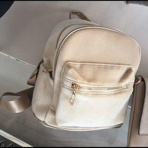 Handbags - NUDE Suede mini backpack