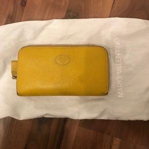Mario Valentino Handbags - Yellow Leather Wallet by Mario Valentino