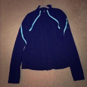 GAP fit black/ blue trim athletic jacket xl