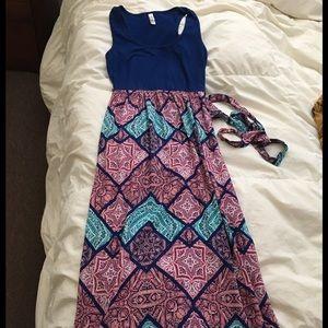 Dresses & Skirts - Blue & pink maxi dress