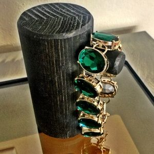 Anthropologie Jewelry - Anthropologie crystal clear gem bracelet