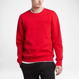 Converse Other - CONVERSE EMBOSSED WORDMARK CREW NWT RED