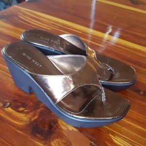 Nine West Shoes Sandals Bronze