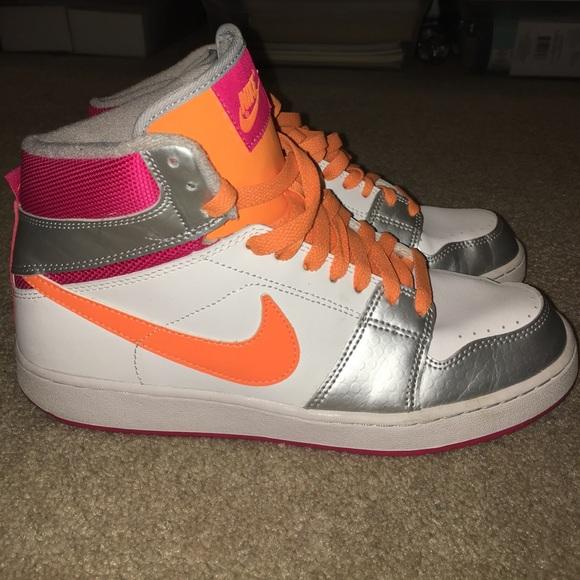 Nike Shoes   Pink Orange Nikes Never